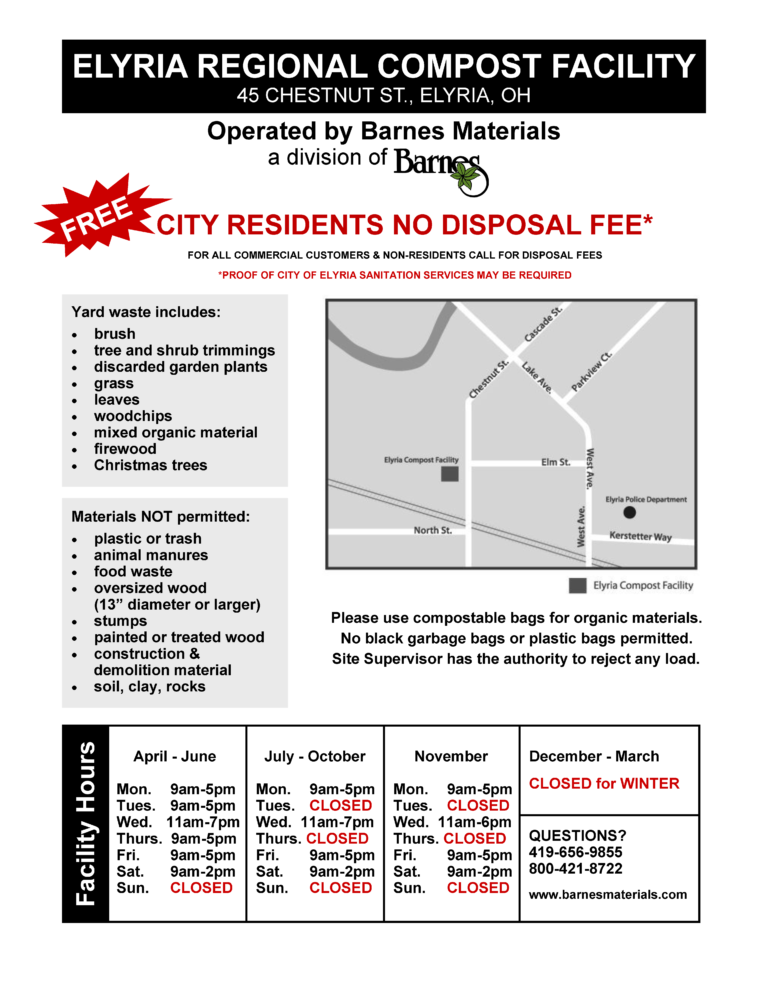Details About the Elyria Regional Compost Facility