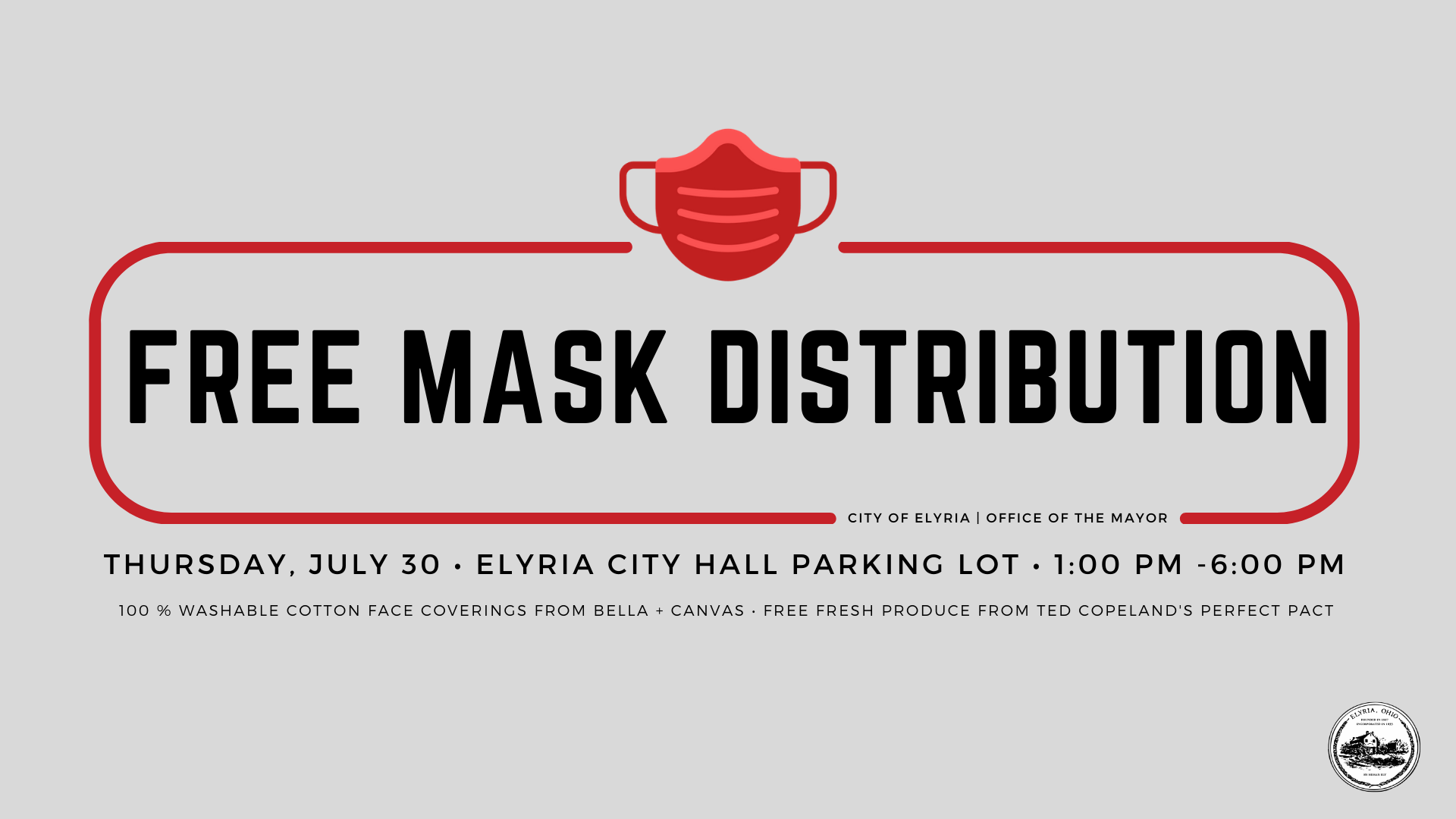 Mask Distribution on Thursday July 30