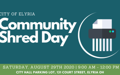 Notice: City of Elyria Shred Day is Saturday, August 29