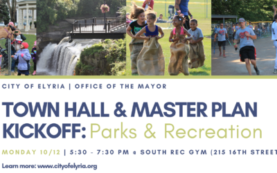 City of Elyria to Gather Resident Input About The Future of Their Parks at Upcoming Town Hall Session