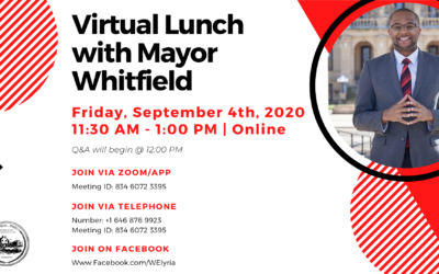 Join Mayor Frank Whitfield for Virtual 'Lunch' Friday September 4
