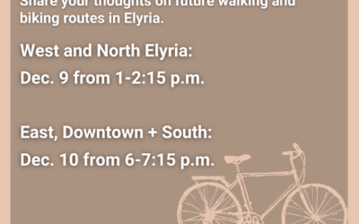 City and Lorain County Public Health (LCPH) Seek Community Input on Potential Solutions to Walking and Biking