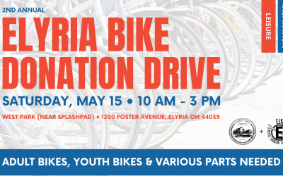 City of Elyria and Elyria Bicycle Education Center Joining Forces for Bike Donation Drive For May 15 Pride & Service Dance